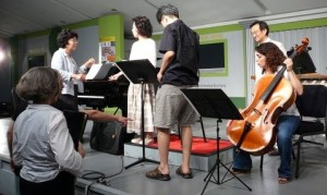 "Rehearsal of Earl Kim's ""Dear Linda"" at the Great Mountains Music Festival (Korea)"